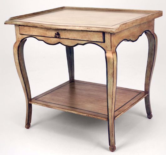 Picture of FRENCH TABLE W/ SHELF & DRAWER